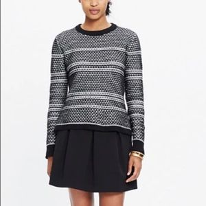 Madewell Fineprint Pullover Knit Sweater Black S